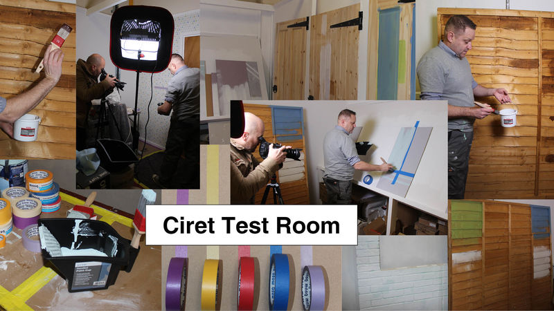 Different images of the Ciret test and training room.